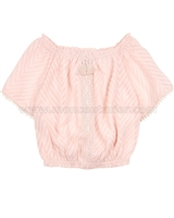 Mayoral Girl's Plumeti Blouse Pink