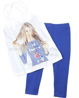 Mayoral Girl's Tunic and Leggings Beach Set