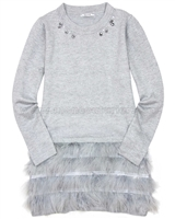 Mayoral Junior Girl's Knit Dress with Fringes
