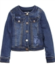 Mayoral Junior Girl's Lined Denim Jacket Medium Blue