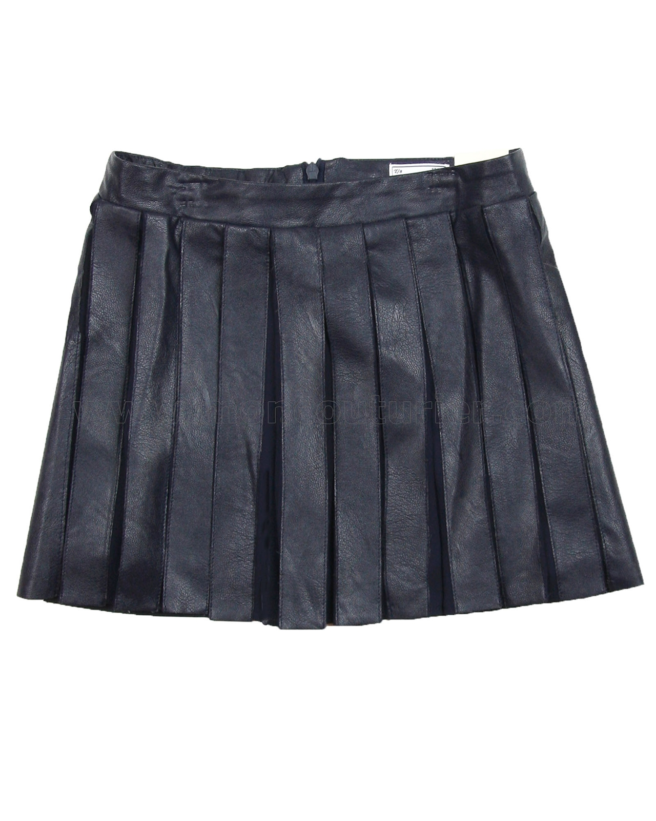 mayoral junior s pleated pleather skirt navy