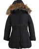 Mayoral Junior Girl's Puffer Coat with Hood Black