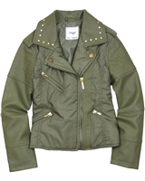 Mayoral Girl's Combo Jacket Olive