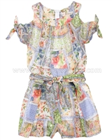 Mayoral Girl's Patchwork Print Romper