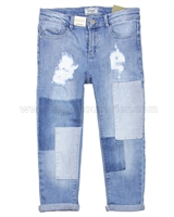 Mayoral Girl's Denim Pants with Patches
