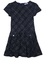 Mayoral Junior Girl's Tweed Short Sleeve Dress