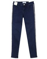 Mayoral Junior Girl's Denim Pants with Shiny Stripes