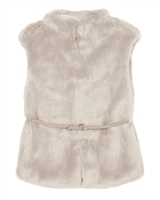 Mayoral Junior Girl's Beige Furry Vest