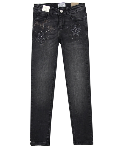 Mayoral Junior Girl's Denim Pants with Stars