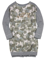 Mayoral Junior Girl's Camo Print Sweatshirt Dress