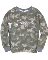 Mayoral Junior Girl's Camo Print Sweatshirt