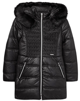 Mayoral Junior Girl's Black Puffer Coat with Hood