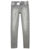 Mayoral Junior Girl's Gray Denim Pants with Jewels