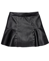 Mayoral Junior Girl's Pleather Skirt with Eyelets