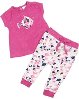 Petit Lem Origami Fish Top and Sweatpants  Set
