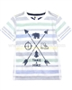 Petit Lem Striped T-shirt Front Nature Boy