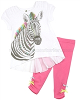 Petit Lem Zebra Print Tunic and Leggings Wild Safari