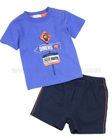 Petit Lem Jogging Shorts and T-shirt Retro Road