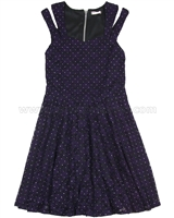 Sally Miller Split Shoulder Stud Lace Dress