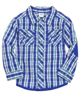 s.Oliver Baby Boys' Check Shirt wtih Elbow Patches