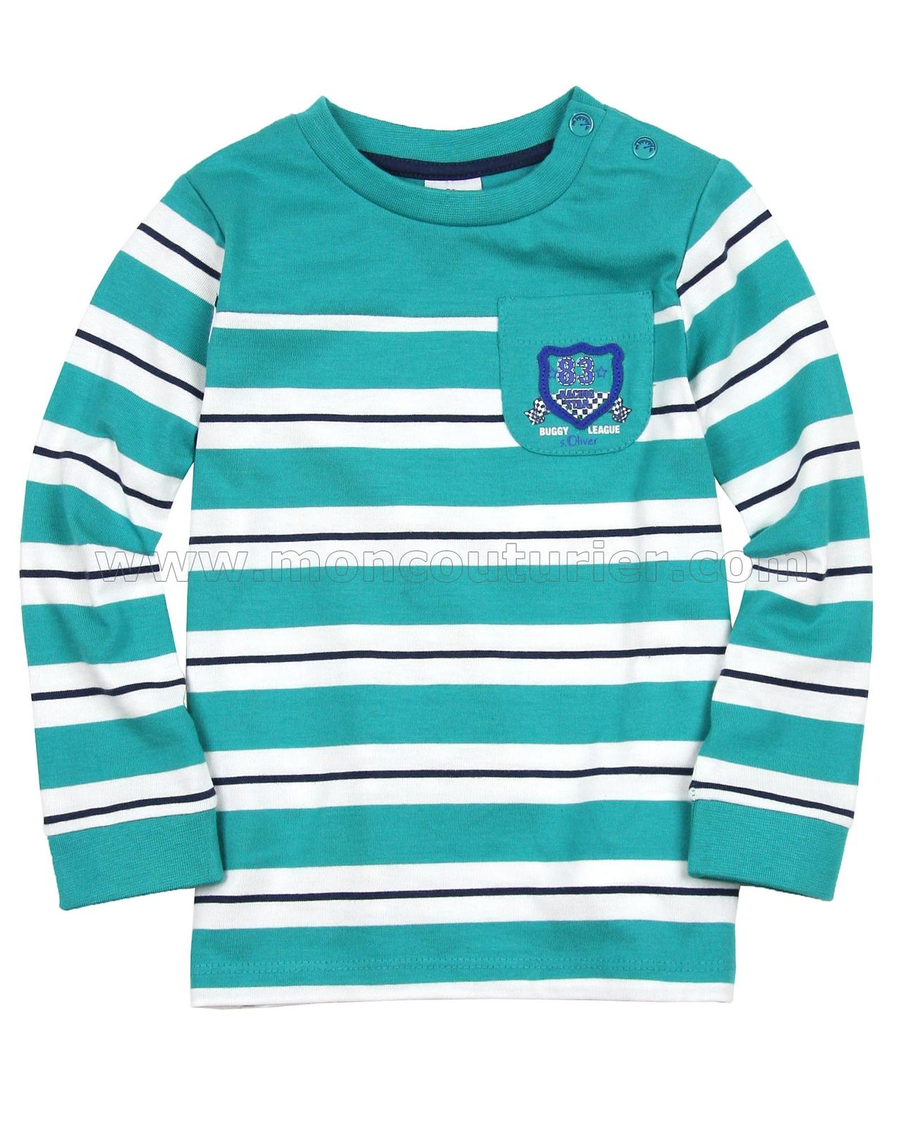 s oliver baby boys 39 striped t shirt. Black Bedroom Furniture Sets. Home Design Ideas