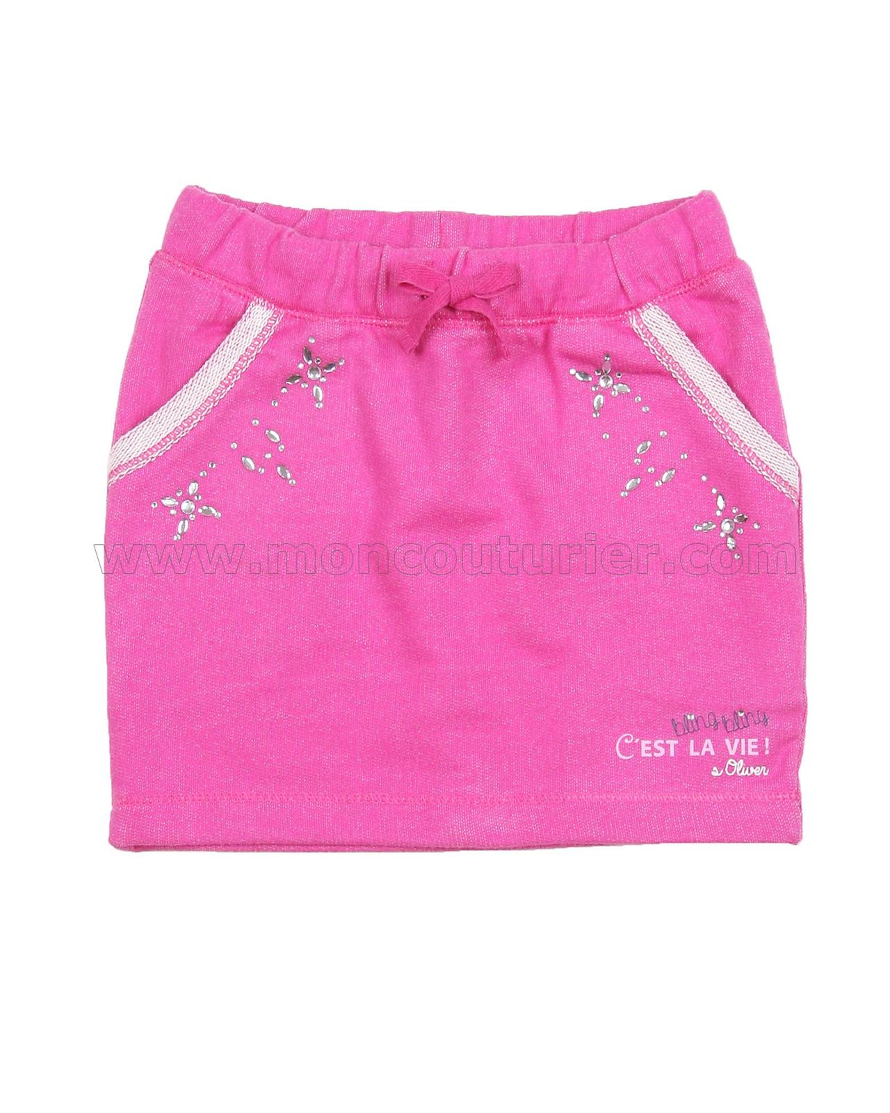 s oliver girls 39 sweatshirt mini skirt with gemstones. Black Bedroom Furniture Sets. Home Design Ideas