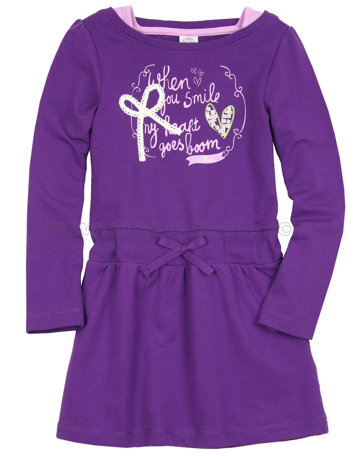 s oliver girls 39 layered sweatshirt dress. Black Bedroom Furniture Sets. Home Design Ideas