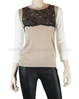 Siste's Women's Sweater with Lace