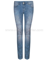 SuperTrash Womens Denim Pants Paradise Slim Palm Blue