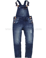 Tumble n Dry Girls' Denim Pants with Suspenders Fanna