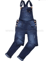Tumble n Dry Junior Girls' Denim Pants with Suspenders Fanna