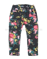 Tumble n Dry Baby Girls' Flower Print Denim Pants Offide