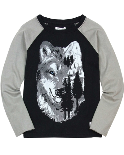 Art and Eden Boy's T-shirt with Wolf Print sizes 4-10