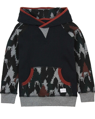 Art and Eden Boy's Sweatshirt in Bear Camo Print sizes 4-10