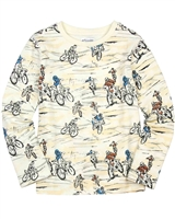 Art and Eden Boy's T-shirt in Bike Race Print