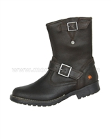 Art Kids Unisex Combat Style Leather Boots
