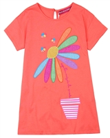 Agatha Ruiz de la Prada T-shirt Dress with Daisy Applique