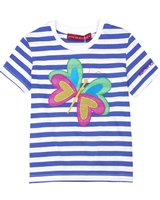 Agatha Ruiz de la Prada Striped T-shirt with Butterfly