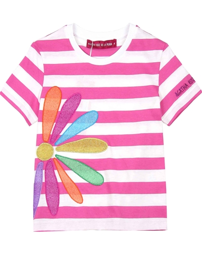 Agatha Ruiz de la Prada Striped T-shirt with Daisy