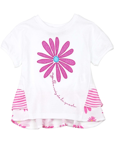 Agatha Ruiz de la Prada T-shirt with Daisy Flounces