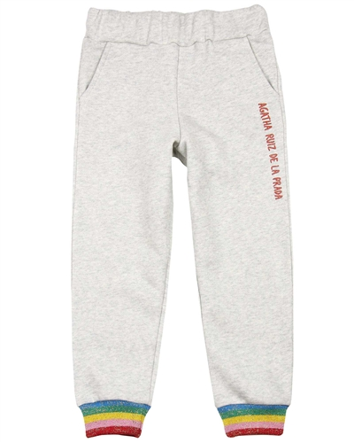 Agatha Ruiz de la Prada Sweatpants with Striped Cuffs