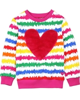 Agatha Ruiz de la Prada Sweatshirt with Plush Heart