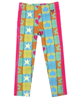 Agatha Ruiz de la Prada Check and Flower Print Leggings