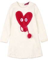 Agatha Ruiz de la Prada Sweatshirt Dress with Plush Heart