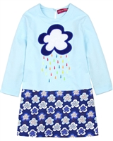 Agatha Ruiz de la Prada Two Colour-way Dress with Cloud Applique