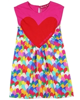 Agatha Ruiz de la Prada Jersey Dress in Hearts Print