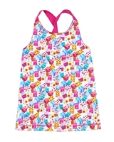 Agatha Ruiz de la Prada Tank Top with Twisted Shoulder Straps