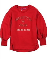 Agatha Ruiz de la Prada Sweatshirt with Puffed Sleeves