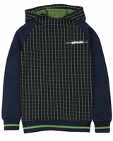 Bellaire Junior Boys Hoodie with Plaid Front