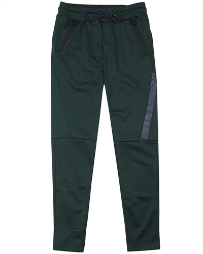 Bellaire Junior Boys Sporty Pants with Details in Dark Green
